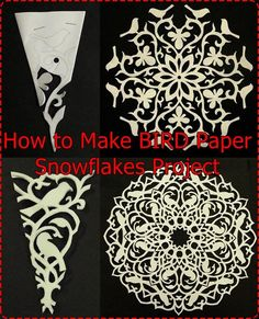 "How to Make BIRD Paper Snowflakes Project Homesteading - The Homestead Survival .Com ""Please Share This Pin"""