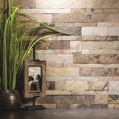 Peel and stick your way to a new stone backsplash. Maybe for the breakfast table.