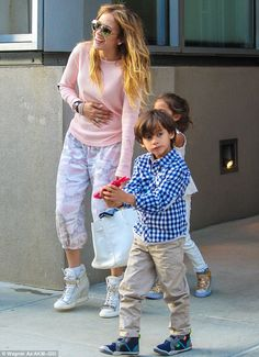 Me and my twins: Max and Emme are J-Lo's children by her ex-husband Marc Anthony