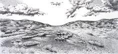 Pen drawing: 'DE KERF' by Rob Donders