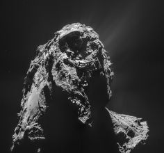 Rosetta's navigation camera took this four-image mosaic from a distance of 17.6 miles (28.4 km) from the center of Comet 67P/Churyumov-Gerasimenko on Jan. 16, 2015.