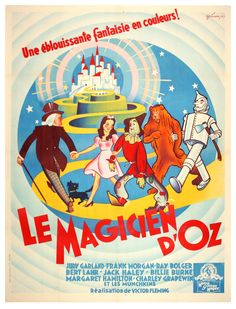 vintage French Wizard of Oz poster
