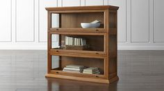 Atticus 3-Piece Barrister Bookcase | Crate and Barrel -- shoe display cabinet