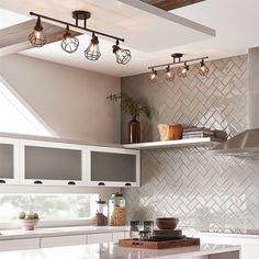 Best Kitchen Lighting Small Flat Screen Tv For 8 Track Kits Images Ceiling Kichler Bayley 4 Light Olde Bronze Standard Fixed Kit