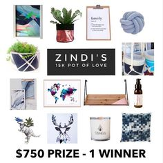 ZINDI'S | 15k Pot of Love Giveaway!   In honour all of our amazing followers I have joined with some of my favorite stores who have all been part of our journey to bring you the best prize valued at over $750.  The WINNER TAKES ALL in this comp and will be a random draw.  The prize pool contains  @madebylucyinmargaretriver - Handmade macramé hanger with one of our smaller pots @simplicityaromatherapy - Balance Facial Moisturiser @ulipek86 - small knot cushion @lumiopusart - original screen…