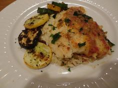 Haddock in Orange Jalapeno Shallot Wine Sauce with Orzo & Zucchini