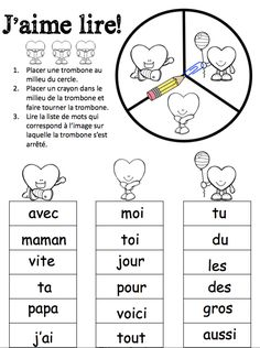 La Saint-Valentin et l'amitié Read In French, French Class, How To Speak French, French Lessons, Learn French, Core French, Valentines Day Poems, Valentines Day Activities, Child Development Activities