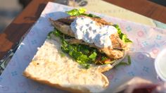 Grilled mackerel fillets with a mint yoghurt dressing