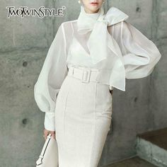Women's Accessories Fine Twotwinstyle Pleated Gloves For Women Accessories Solid Color Raglan Sleeves Female 2018 Spring Fashion Elegant