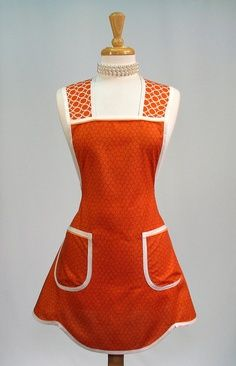 Pretty orange apron