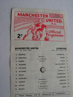 Rare Vintage 1969 Manchester United Versus Liverpool One Sheet Football Soccer Programme by VintageBlackCatz on Etsy