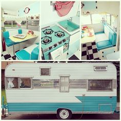 Awesome! Turquoise & white interior