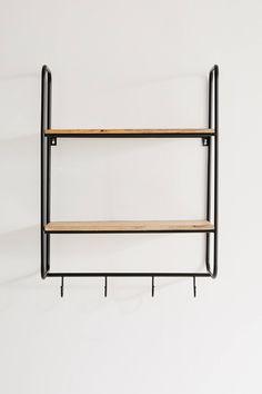 Lou Entryway Wall Shelf | Urban Outfitters Small Shelves, Wood Shelves, Shelving, Kitchen Wall Rack, Entryway Wall, Wall Racks, Cleaning Wipes, Urban Outfitters, Shelf