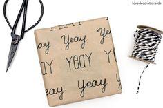 DIY Geschenkpapier beschriften // DIY Handwriting Gift Wrapping Paper