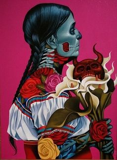 The Bold and Colourful Art of Gustavo Rimada My heart and hand took over. Painting on everything from shoes to bags. Mexican Artwork, Mexican Folk Art, Mexican Artists, Art Pop, Cozumel, Tribal Tattoos, Indian Tattoos, Latino Art, Day Of The Dead Art