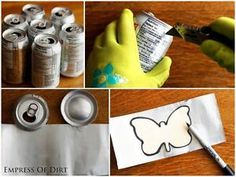 Turn Trash into Charms There are some really sweet crafts hiding in your recycle bin! The metal from soda cans (pop or beer cans) is easy to turn into art. Gather up a bunch of cans, rinse them out, and...