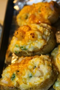 Paula Deen's Twice Baked Shrimp Stuffed Potatoes