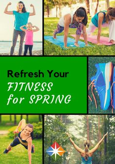 20 ways to refresh your fitness for spring--who couldn't use that? Get your workout in in the great outdoors--do it for your health, do it today!