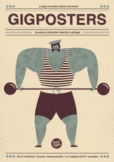 gigposters exhibition   poster by Dawid Ryski, via Behance