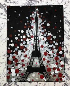"If the Tour Eiffel is the symbol of Paris, the Cathédrale de Notre-Dame de Paris is its heart. Sitting on the banks of the Seine, this wonderful architectural masterpiece is a definite ""must-see"". Eiffel Tower Painting, Eiffel Tower Art, Eiffel Tower Drawing, Paris Painting, Paint And Sip, Unique Paintings, Paris Theme, Art Lessons, Canvas Wall Art"
