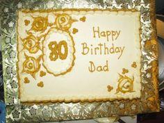 80th Birthday Cake Ideas - A Wonderful Birthday Cake