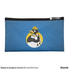 Emperor penguin cartoon makeup bags