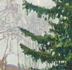 Akseli Gallen-Kallela (Finnish, 1865-1931), Fog at Christmas, 1912. Oil, 30 x 31.5 cm.