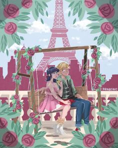 (Miraculous: Tales of Ladybug and Cat Noir) Marinette Dupain-Cheng/Adrien Agreste