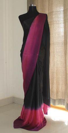 Flowing and soft fabric. Trendy Sarees, Stylish Sarees, Fancy Sarees, Party Wear Sarees, Saree Gown, Satin Saree, Silk Satin, Raw Silk Saree, Indian Silk Sarees