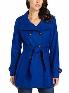GUESS Aubrey Wool Trench Coat | GuessFactory.com