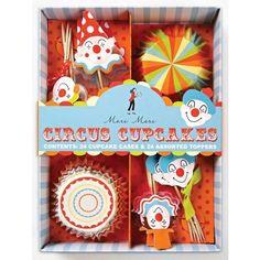 Meri Meri Cupcake Cases and Assorted Toppers (Set of 24) - Circus #MeriMeri