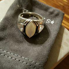 "SILPADA Mother-of-Pearl Cubic Zirconia ""Stargazer"" R2808...Mother-of-pearl &Cubic Zirconia Silpada Jewelry Rings"