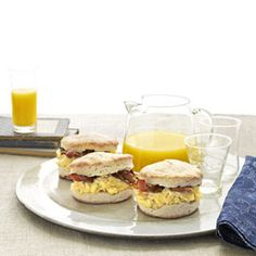 Breakfast Sandwiches - 60 Kid friendly recipes. Maybe Ella will like some of these. Yum!