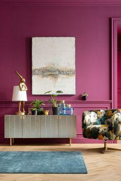 €239 | Animal Rabbit Gold 88cm tafellamp, trendy tafellamp uit de eigenzinnige collectie van Kare Design. De stijlvolle woonaccessoires en meubels van dit unieke merk zijn echte eyecatchers en geven uw interieur extra karakter! Afmeting: (hxbxd) 88×30,5×30,5 cm. Kare Design, Purple, Pink, Decorating Ideas, Rooms, Cabinet, Retro, Storage, Furniture