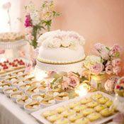 Gorgeous pink dessert bar by Pop Culture Desserts