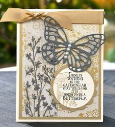 Krystal's Cards: Stampin' Up! Butterfly Bundle Vanilla and Gold