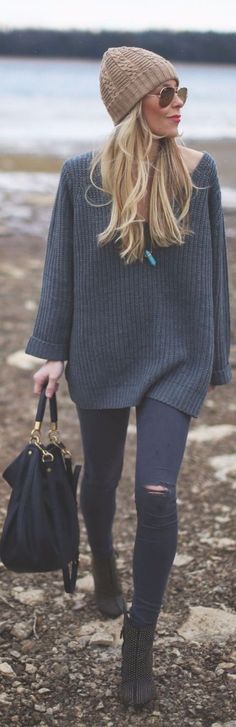 street style suéter