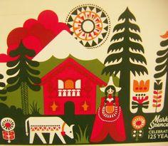 print & pattern: XMAS 09 - M&S sanna annukka