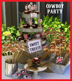Cowboy Birthday Party - Printable Decorations