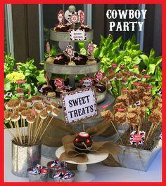 Cowboy Birthday Party - Printable Decorations
