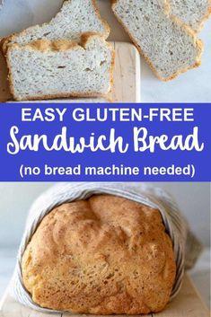 Bread Recipes For Oven, Gluten Free Bread Recipe Easy, Easy Gluten Free Desserts, Gluten Free Soup, Gluten Free Sides Dishes, Gluten Free Recipes For Dinner, Bread Machine Recipes, Foods With Gluten, Gluten Free Baking
