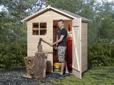 Abri de jardin en bois 2,21m² panneaux 14mm Tobin 1 Karibu, Abri ...