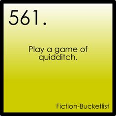 Would be a thrill. Fiction Bucket List although I need to get over my fear of heights