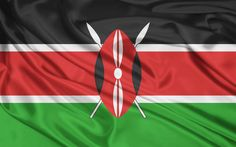 Kenia officially the Republic of Kenya, is a country in Africa. Its capital and largest city is Nairobi. Kenya lies on the equator with the Indian Ocean to the south-east. Kenya covers 581,309 km2 (224,445 sq mi), and had a population of approximately 44 million people in July 2012
