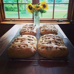 Rosemary Focaccia Bread, handmade with natural leaven and no additives.