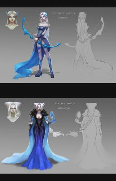 Frost Queens Ashe + Lissandra skin concept