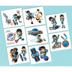 Disney Miles From Tomorrowland Tattoos for Miles birthday party favors