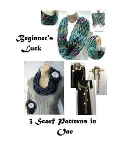 (4) Name: 'Crocheting : First Love Cowl & 2 More Scarves
