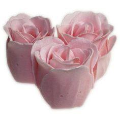 Bath Roses - 3 Roses in Heart Box (Jasmine)