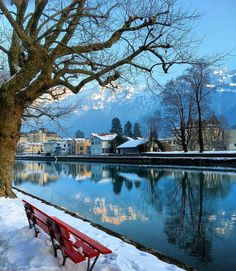 Take a seat and enjoy the beautiful view in Interlaken :)